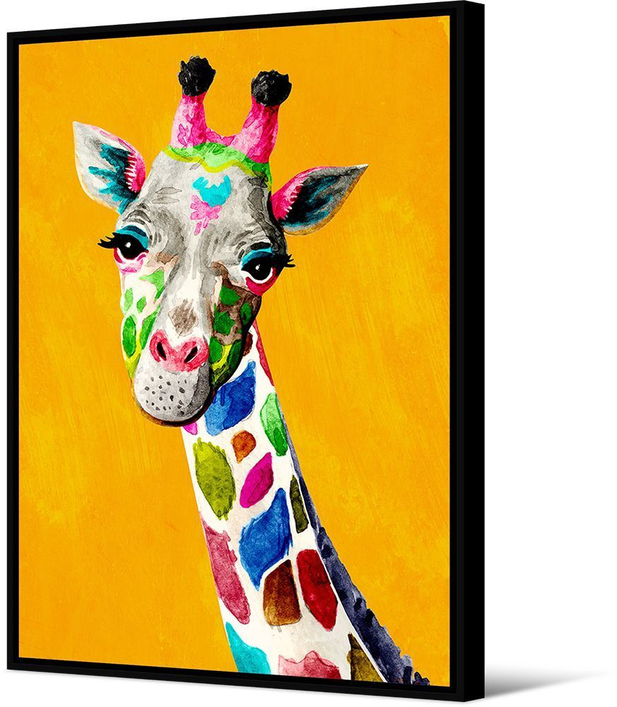 Image product Toile Girafe colorée 339191
