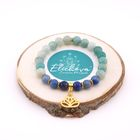 "Image thumbnail product Bracelet Duo ""Communication et Intuition"" - Lapis Lazuli, Amazonite et Aventurine 343496"