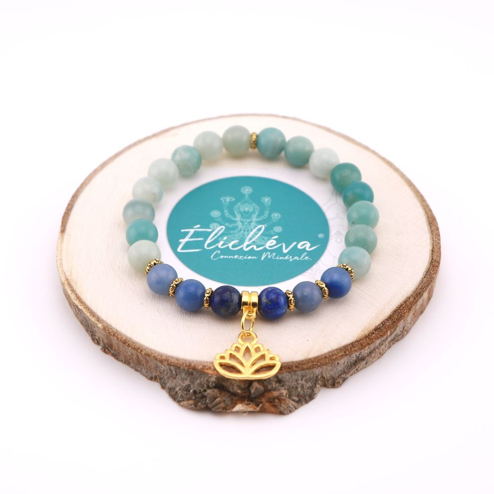 "Image product Bracelet Duo ""Communication et Intuition"" - Lapis Lazuli, Amazonite et Aventurine 343496"