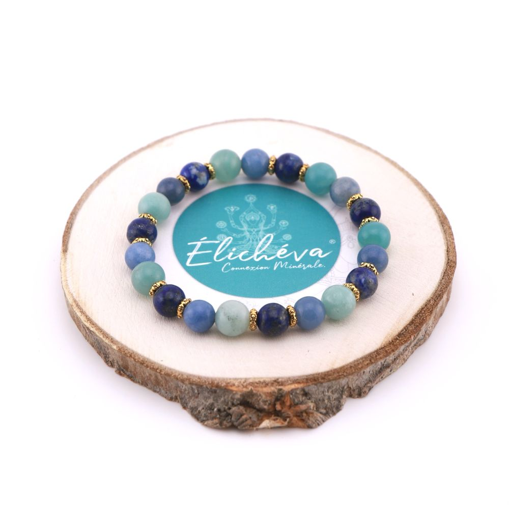 "Image product Bracelet Duo ""Communication et Intuition"" - Lapis Lazuli, Amazonite et Aventurine 343497"