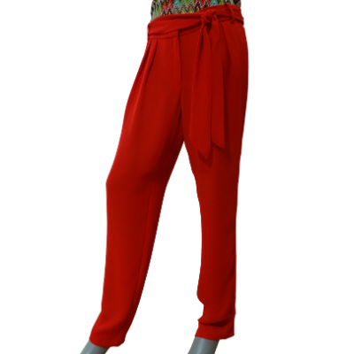 Image product PANTALON MANGO ROUGE 465697