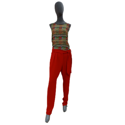 Image product PANTALON MANGO ROUGE 465699