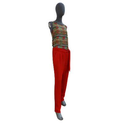 Image product PANTALON MANGO ROUGE 465701